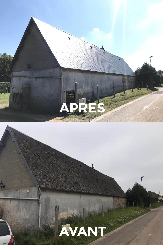Rénovation toiture avant/après