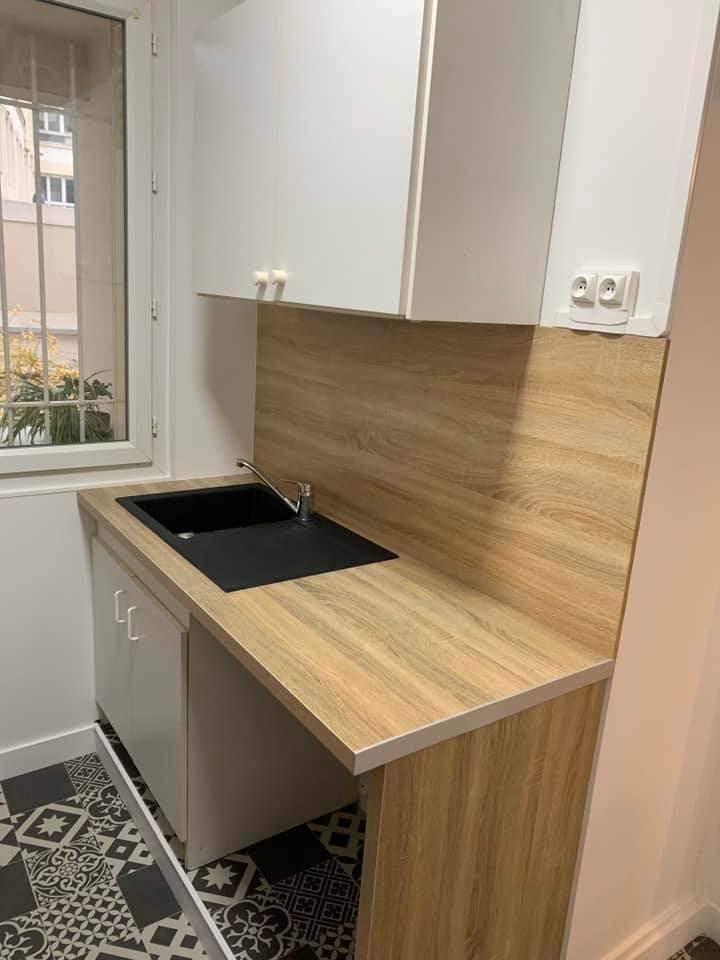 Rénovation appartement – installation coin cuisine